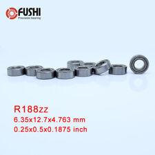 R188ZZ Bearing ABEC-1 (10PCS) 0.25x0.5x0.1875 mm Inch Miniature Bearings R188 ZZ