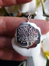 Beau pendentif arbre de vie en ARGENT MASSIF 925  poinçon TREE OF LIFE