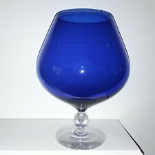 Blue Glass Vase wine glass/goblet Art Decorative  flower table decor  Modern