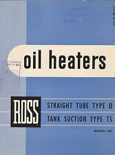 VINTAGE CATALOG #2803 - 1960 ROSS OIL HEATERS