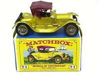 Matchbox Lesney Y6-3 1913 Cadillac In Type 'E1' 'NEW MODEL'  Box (1st TYPE BASE)