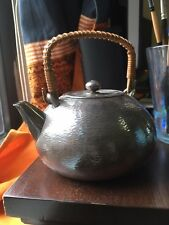 Antique Japanese Silver Tea Kettle Teapot Marked And With Original Handle 20th C