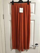 Glamorous @ Topshop Orange Pleated Trousers Size 10 BNWT
