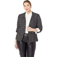 MSRP $125 Rachel Roy Women's Plus Size Frankie Jacket Combo Black Size 1X
