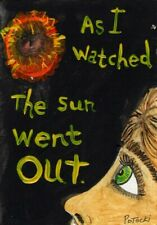 Nightmare Sun Went Out Bad Dreams Original Painting ACEO outsider art