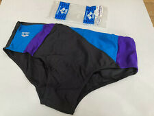 "Vintage Arena Sport Briefs Swimming Trunks Slip XL Mens 38"" Black Speedos"