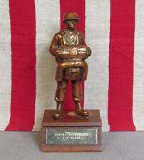 Vintage US Army 82nd Airborne Award Trophy 504th Paratrooper Metal Topper 9""