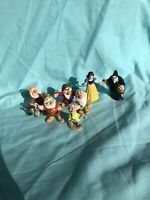 "Disney Applause Snow White and the Seven Dwarfs 3"" Figures Lot of 7"