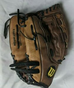 "Wilson Baseball Glove Leather Monsta Web 11.5"" A0442 FP115 Fastpitch Left Hand"