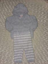 Cat Jack Gray White Sweater Set Pants Bear Ear Hood Jacket 6-9 mnth boy organics