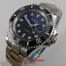 40mm Bliger blue black dial sapphire crystal automatic movement mens watch P137
