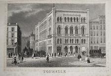 Hamburg Tonhalle  alter seltener Briefbogen mit Stahlstich 1840