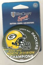 2002 Green Bay Packers North Division Champions Button