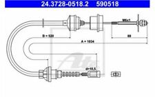 ATE Cable de accionamiento, accionamiento del embrague CITROEN 24.3728-0518.2