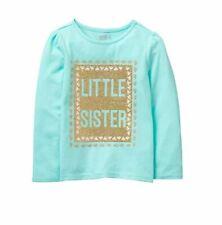 Crazy 8 Girls' Toddler Li'l Long-Sleeve Graphic Tee, Aqua Splash, 6-12 mo