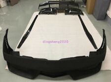 For Lamborghini Gallardo Carbon Fiber Set Side Skirt+Front&Rear Bumper Lip Trim