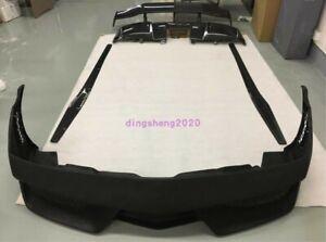 For Lamborghini Gallardo Carbon Fiber Set Side Skirt+Front&Rear Bumper Lip Trim