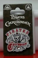 Walt Disney Enamel Pin Badge Pirates of the Caribbean Skull Crossbones on Card