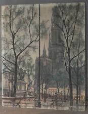 Vintage Modern Franz Vantongerloo Belgian Painting City Urban Flemish Park