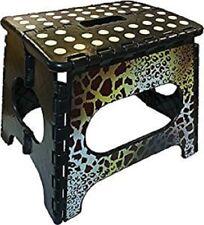 "Sam & Ali's 11"" Fabulous Folding Step Stool W/Non-Skid Dot Surface (Giraffe)"