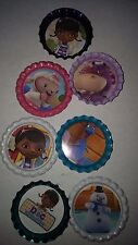 7 misc Doc McStuffins bottle cap magnets cupcake toppers party favors gifts