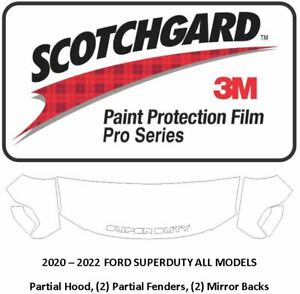 3M Scotchgard PRO Paint Protection 2020 2021 Ford Superduty Hood Fender Mirrors