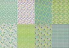 Motiv-Kartenpapier/Karton-TKK 13-verschiedene Muster mit Glimmer-ca.260g -A5