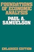 Economic Studies: Foundations of Economic Analysis. Enlarged edition. Samuelson