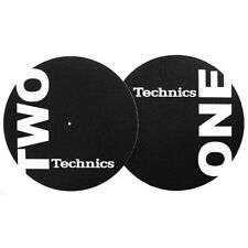 Technics One Two Slipmats (black & white) (pair)