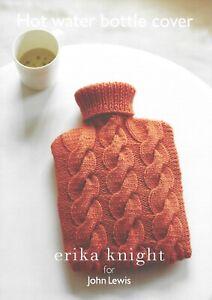 Hot Water Bottle Cover Knitting Pattern by Erika Knight for John Lewis ARAN