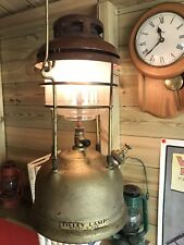 Vintage Tilley X246A paraffin pressure storm lamp with gold tank
