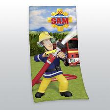 FEUERWEHRMANN SAM BADETUCH SAUNA HANDTUCH VELOURSTUCH LTD 75 x 150 cm NEU WOW