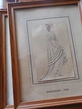 ILLUSTRATEUR ROUILLIER HISTOIRE DU COSTUME FRANCAIS GRAVURES REHAUSSéES