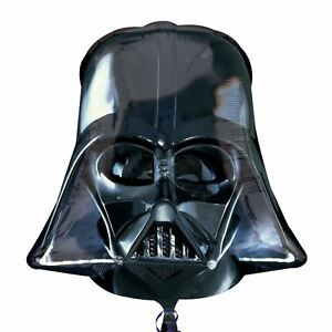 "25"" Darth Vader Helmet Head Star Wars Foil Helium Balloon Birthday Party Anagram"