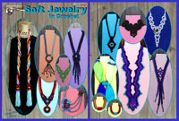 "Crochet Jewelry pattern ""Soft Jewelry"" PDF Download"