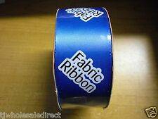 NEW ! Holiday Christmas Royal Blue Fabric Ribbon 36 ft L X 1 1/2 in W