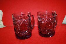 Vintage Amethyst Purple Glass With Handle Ornate Design