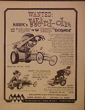 1969 Hawk Model Kits WEIRD-OHs Daddy Suburbanite~Davey Motorcycle Toy Print AD