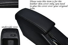 WHITE STITCH LEATHER ARMREST SKIN COVER FITS TOYOTA COROLLA LEVIN GT-Z AE101