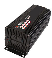 Professional Series 3000 Watt Power Inverter/ Convert 12v DC to 110v/120v AC NEW
