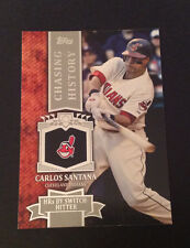 2013 Topps Mini Chasing History #MCH-31 CARLOS SANTANA Indians Online Exclusive