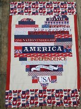 """Handmade Pieced Patriotic Jelly Roll Lap Blanket Quilt .. 36"""" X 60"""" Chair Throw"""