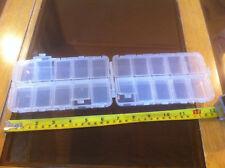 Grandi trasparenti Tackle Box Contenitore Pesci Pesca Angler NUOVO 16 CM x 9 cm