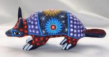 Ceramic Clay Armadillo Figurine Hand-painted Mexican Folk Art Neat Gift Idea A2