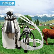 304 Stainless Steel Milk Bucket Cow Milker Dairy Cow Milking Equipment Quality