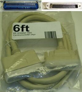 6ft long HD/MD/HPDB68 SCSI-3~Centronics 50pin Male~M External MM Cable/Cord/Wire
