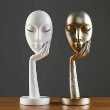 1pc Resin Crafts Lady Face Abstract Art Sculpture Office Craft Ornament Home
