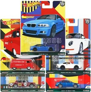 HOT WHEELS 2021 CAR CULTURE DEUTSCHLAND DESIGN COMPLETE SET OF 5 CAR PRE-ORDER