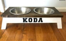 Custom Dog Bowl - Add your dog's name and select a wood finish. Read Description