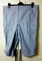 BHS Authentic Womens LADIES TROUSERS Plus Size 20 Purple CARGO CROPPED